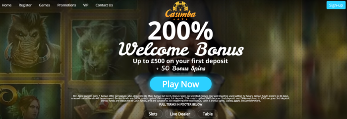 casimba-casino-welcome-bonus-offer