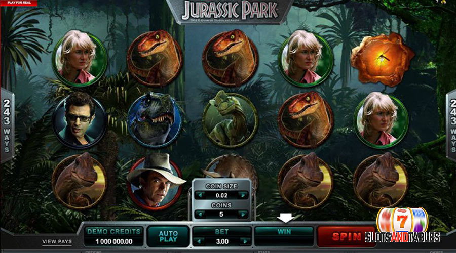 Jurassic park slot - Slots and tables