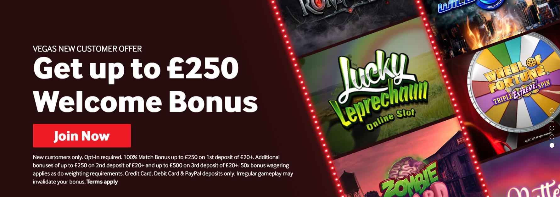 best slots bonus example 250 welcome bonus