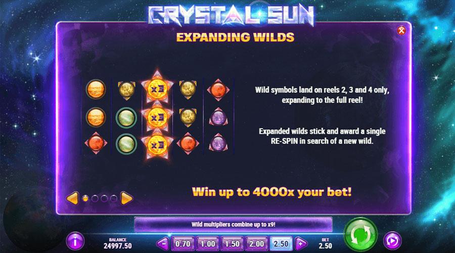 Crystal Sun Screenshot - Slots and Tables