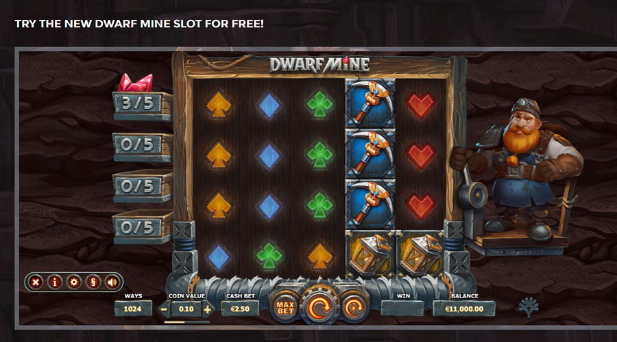 Dwarf Mine Screenshot - Slots and Tables