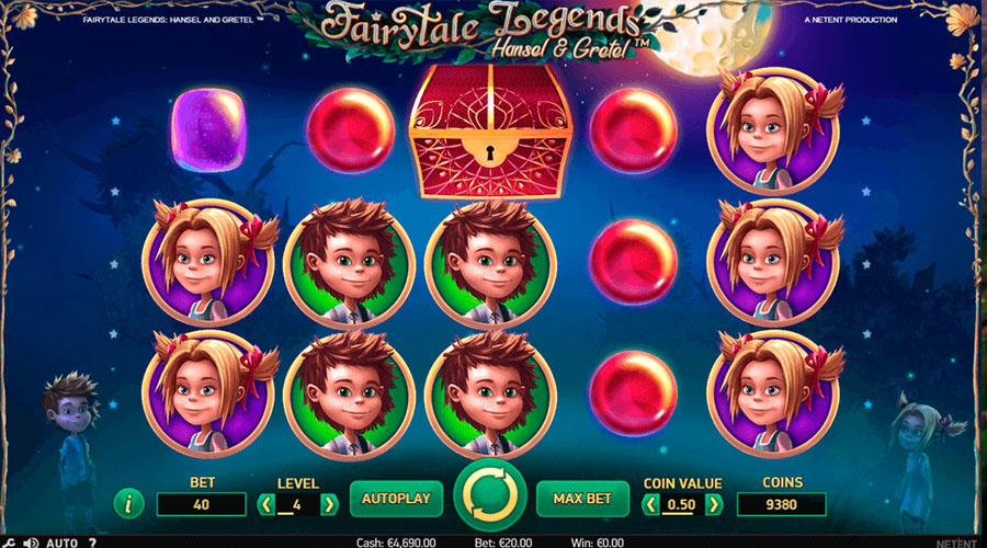 Gameplay and winning combinations in Hansel and Gretel Slot