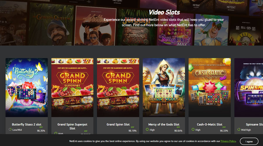 Video slots by NetEnt
